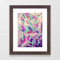 Lovely Leaves Drifting Down Framed Art Print