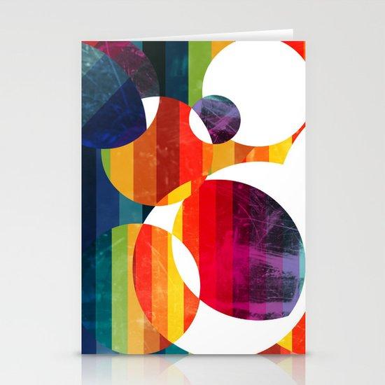 Abstract rainbow  Stationery Card