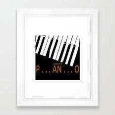 BROKEN  P . . . AN . . . O Framed Art Print