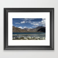 Pangong Tso Lake Framed Art Print