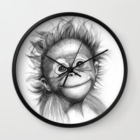 Monkey - Baby Orang outan 2016 G-121 Wall Clock