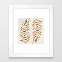 The feeling of fall Framed Art Print