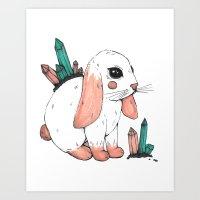 Crystal Bunny Art Print