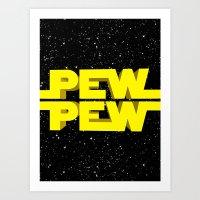 Pew Pew 3D Art Print