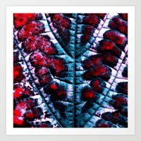 Leaf Structure Abstract … Art Print