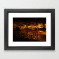 Cavern Reflection Framed Art Print