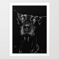 The Curious Expressions … Art Print