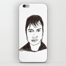 Biro drawing of the actor Gael Garcia Bernal iPhone & iPod Skin