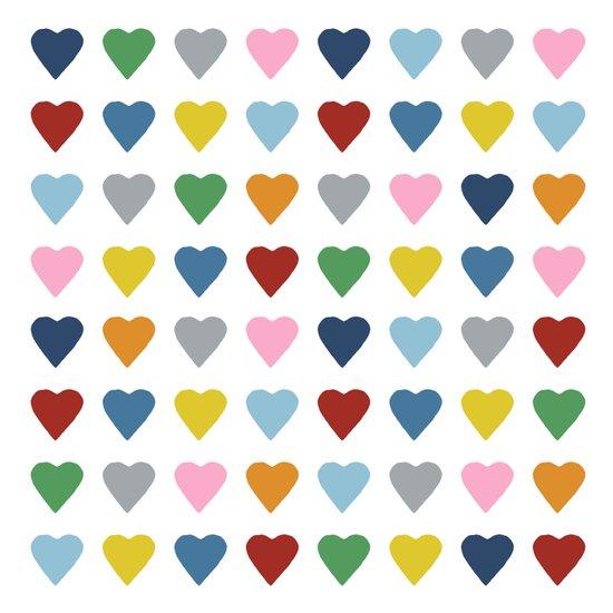 64 Hearts Canvas Print