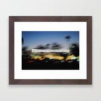 If The City Never Sleeps… Framed Art Print