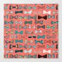Bow tie geek in pink Canvas Print