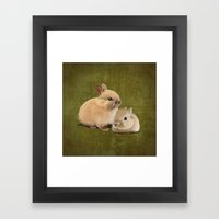 Portrait Of Two Small Bu… Framed Art Print