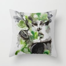 Kiss by carographic Throw Pillow