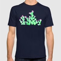 Prickly Pear Spring - Wh… Mens Fitted Tee Navy SMALL