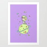 Space Dinosaur Art Print