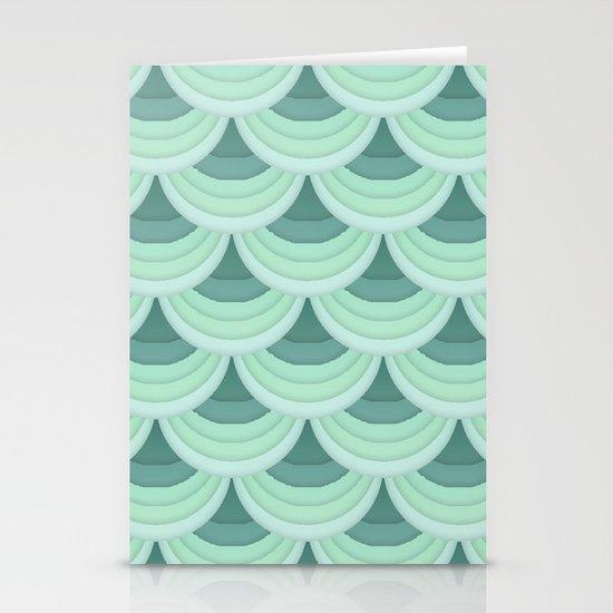 Ocean Fan Tail. Stationery Card