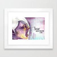 A Tired Silent Scream for Help Framed Art Print