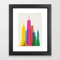 Framed Art Print featuring Shapes Of NYC. Accurate … by Glen Gould