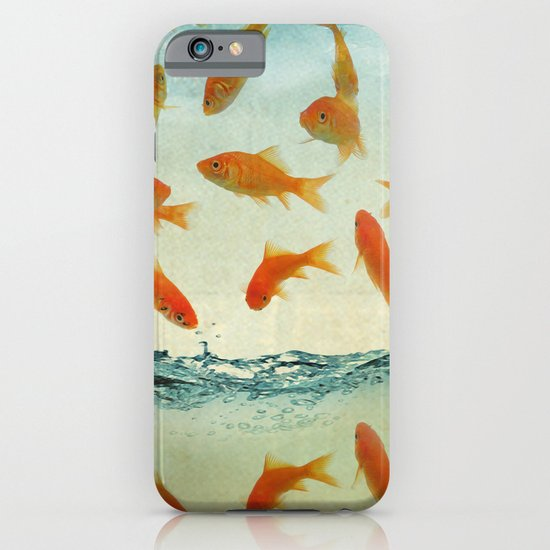 raining gold fish iPhone & iPod Case