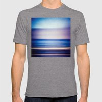 Stripes Of Blue And Purp… Mens Fitted Tee Tri-Grey SMALL