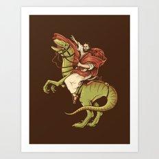Raptored Art Print