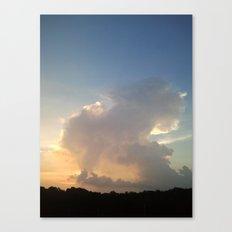Cream Cloud Canvas Print