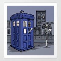 Art Print featuring PaperWho by Karen Hallion Illustrations