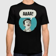 AAAA! (Blue) SMALL Black Mens Fitted Tee