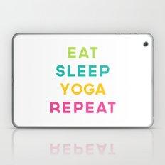 Eat Sleep Yoga Repeat Quote Laptop & iPad Skin