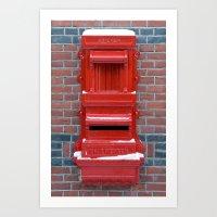 Red Dutch Mailbox Art Print