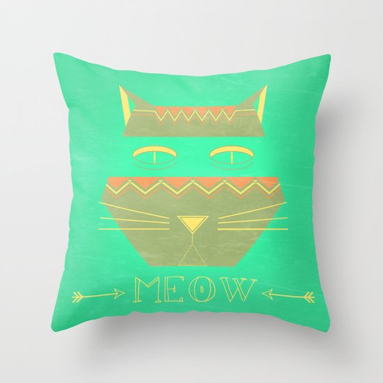 almost in cognito meow Throw Pillow