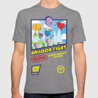 Adventure Time Balloon F… Mens Fitted Tee Tri-Grey SMALL