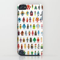 iPod Touch Cases featuring Pixel Heroes by Pahito