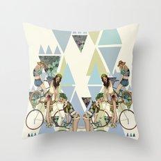 Bike Girls Throw Pillow