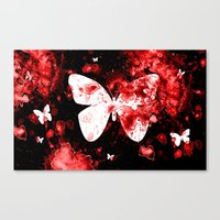 Butterfly Splatter Canvas Print