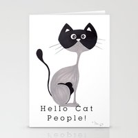 Hello Cat People Stationery Cards