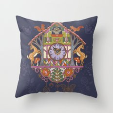 Woodland Cuckoo Throw Pillow