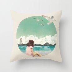 Calm ocean Throw Pillow