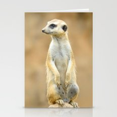 Meerkat on guard Stationery Cards