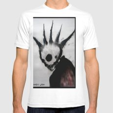 Punk Macabre White Mens Fitted Tee SMALL