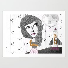 If we can put one man on the moon... why not them all? Art Print