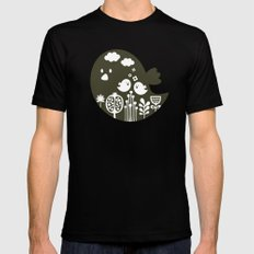 Big bird. SMALL Black Mens Fitted Tee