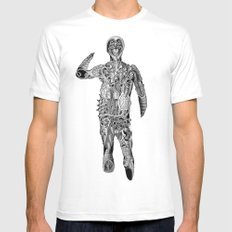 Cyclops White SMALL Mens Fitted Tee