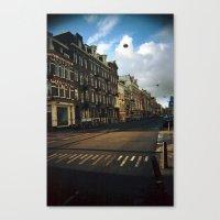 Canvas Print featuring Amsterdam in Winter by istillshootfilm