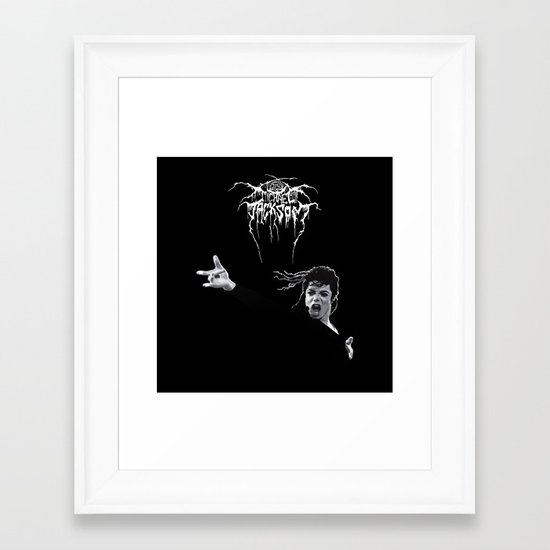 MIKETHRONE Framed Art Print