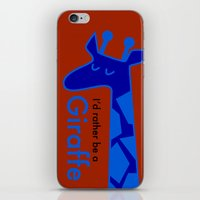 I'd Rather Be a Giraffe iPhone & iPod Skin