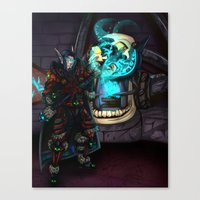 At the Forge Canvas Print