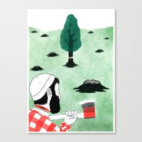 Man & Nature - The Double-Edged Relationship Canvas Print