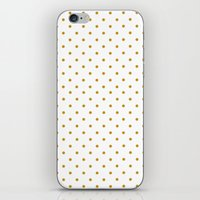 Golden Dots iPhone & iPod Skin
