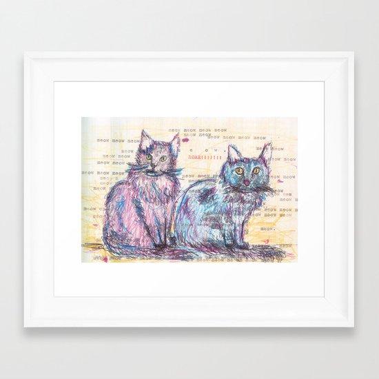Here kitty, kitty Framed Art Print